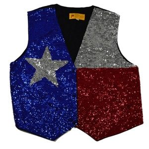 JC 001 USA Size XL Texas Flag Vest
